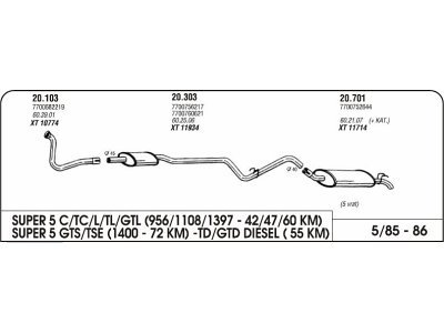 Izpuh Renault 5 GTS zadnji