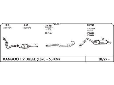 Izpuh Renault Clio II 1.5 dci 01- kol. z gc