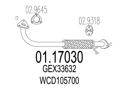 Izpuh Rover 200 95-00, prednja izpušna cev
