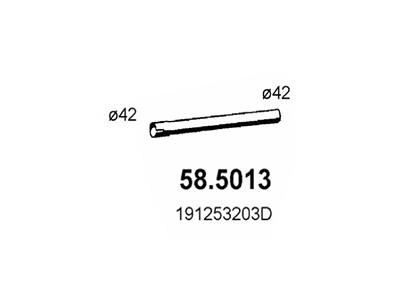 Izpuh Volkswagen Jetta 83-92, prednja izpušna cev