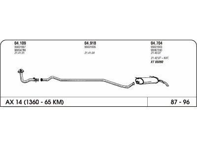Izpuhi Citroen Ax 1.4 87-96 zadnji