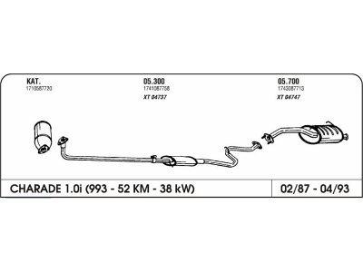 Izpuhi Daihatsu Charade 1.0 87-93 prednji s cev.