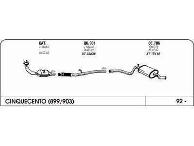 Izpuhi Fiat Cinquecento 0.9 92 cev