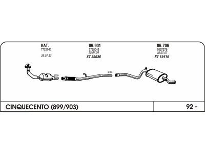 Izpuhi Fiat Cinquecento 1.1 94 prednji