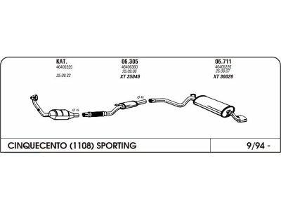 Izpuhi Fiat Cinquecento 1.1 94 zadnji