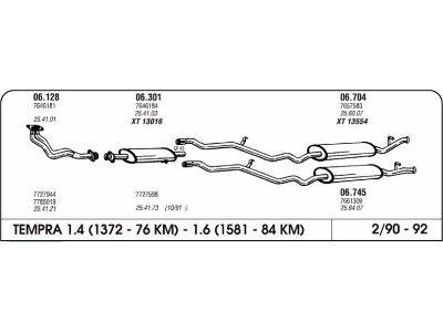 Izpuhi Fiat Tempra 1.4/1.6 90-92 zadnji