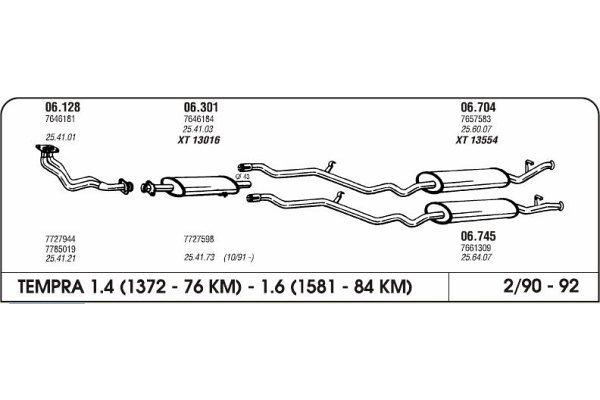 Izpuhi Fiat Tempra 1.6 90 kolektor