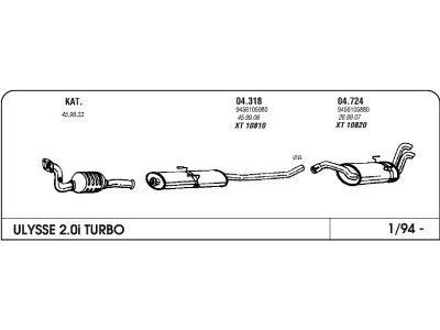 Izpuhi Fiat Ulysse 2.0/1.9 94 zadnji