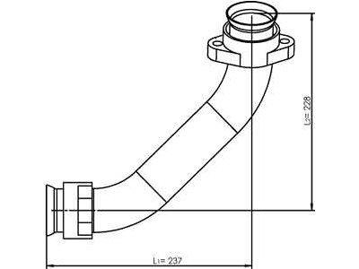 Izpušna cev turbine Mercedes-Benz Actros 02-