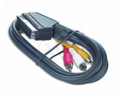 Kabel 3xRCA/SCART, 1,8 m