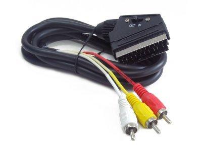 Kabel RCA-scart Bidirectional 1,8m