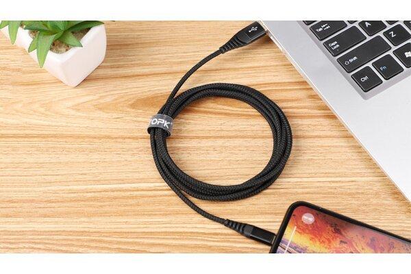 Kabel USB AN42, 3A, USB C, 1m, črn