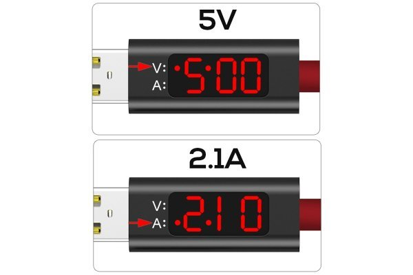 Kabel USB - micro USB, AC27, 3A, 1m, črn