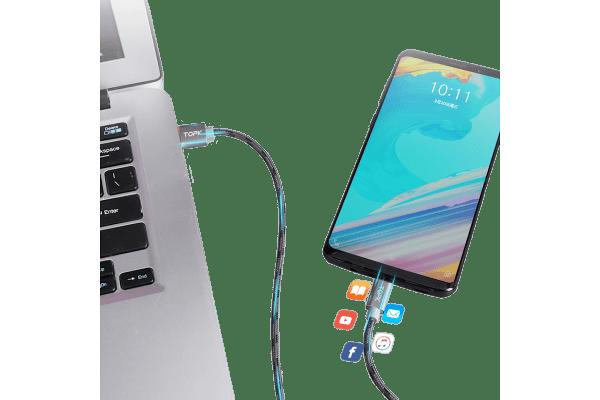 Kabel USB-USB C AN09, 3A, 1m, rdeč