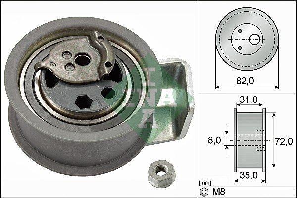 Kit zobatega jermena (napenjalec) 531043620 - Audi A2 00-
