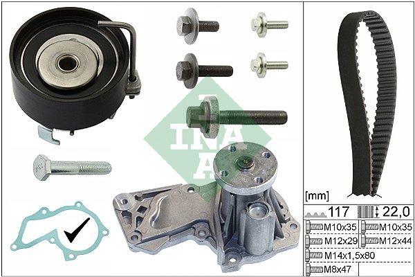 Kit zobatega jermena (+ vodna črpalka) 530049530 - Ford Fiesta 02-17