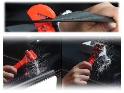Kladivo za razbitje stekla v sili (+ rezilo za varnostni pas)