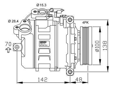 Klima kompresor 2017KS-1S - BMW Serije 5 03-10
