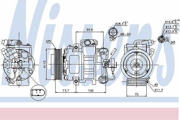 Klima kompresor 4050KS-1S - Hyundai Santa Fe 01-06