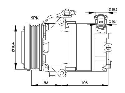 Klima kompresor 5508KS-6 - Opel Zafira A 99-05