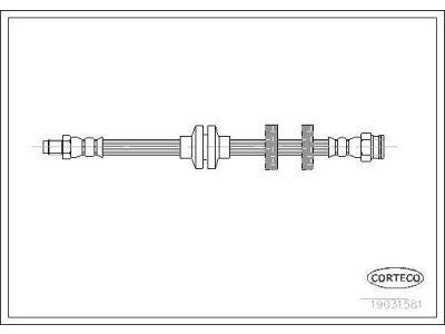 Kočiona cijev 19031581 - Fiat Multipla 01-