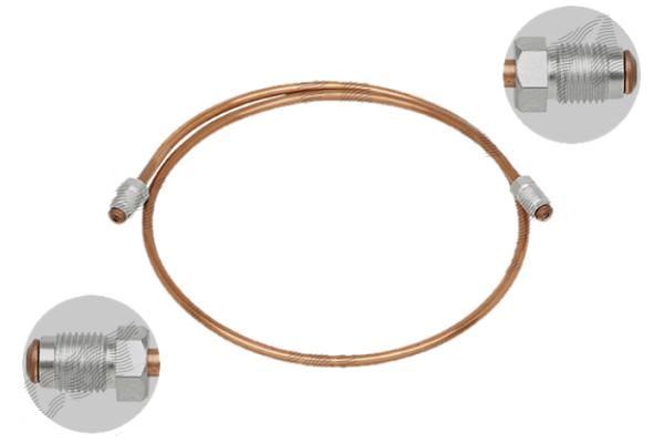 Kočničko crijevo S76-0060AA, M10X1, bakrena, 600mm