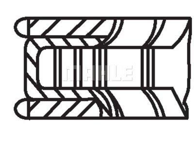 Komplet batnih obročkov 00124N0 - Mercedes-Benz