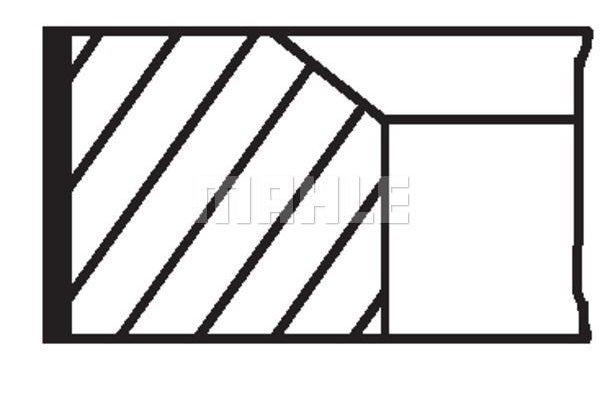 Komplet batnih obročkov 001RS111130N0 - Mercedes-Benz, Mitsubishi, Smart