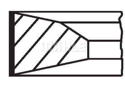 Komplet batnih obročkov 001RS111160N0 - Mercedes-Benz