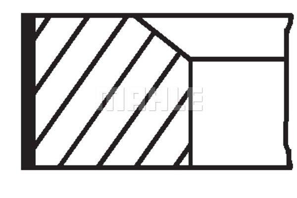 Komplet batnih obročkov 00224N0 - Mercedes-Benz, Ssangyong