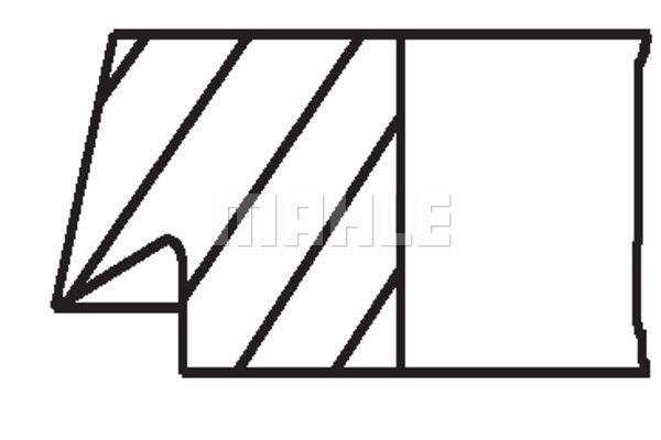 Komplet batnih obročkov 00277N0 - Mercedes-Benz