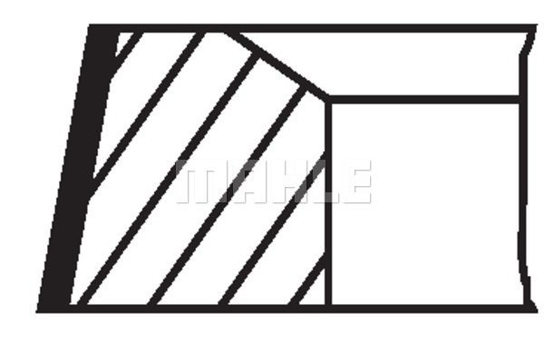 Komplet batnih obročkov 00293N0 - Mercedes-Benz
