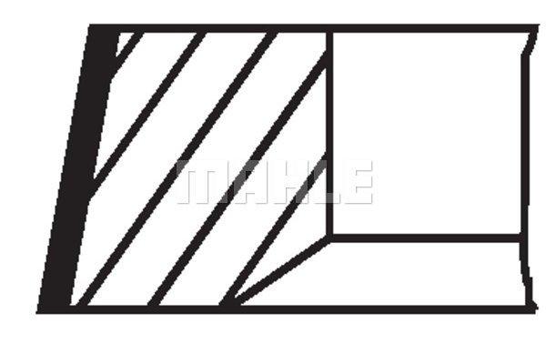 Komplet batnih obročkov 00523N0 - Mercedes-Benz