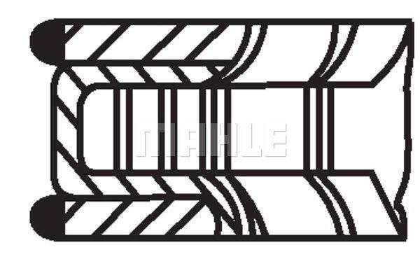 Komplet batnih obročkov 00524N0 - Mercedes-Benz