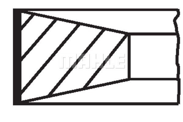 Komplet batnih obročkov 00529N0 - Mercedes-Benz