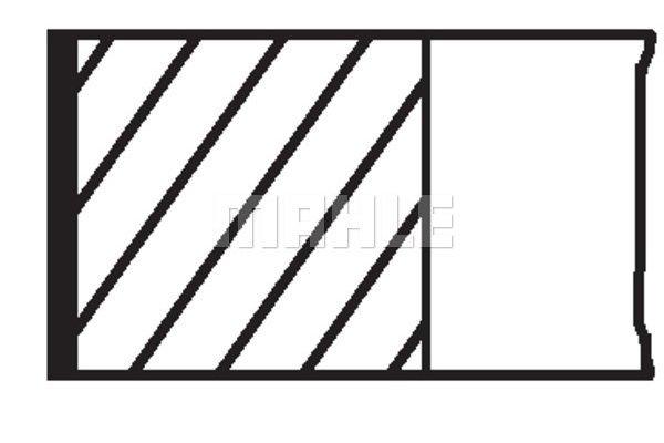 Komplet batnih obročkov 00726N0 - Autobianchi, Citroen, Fiat, Peugeot
