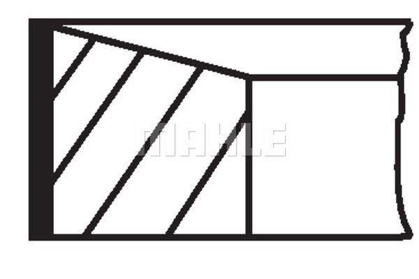 Komplet batnih obročkov 007RS001500N0 - Fiat, Iveco