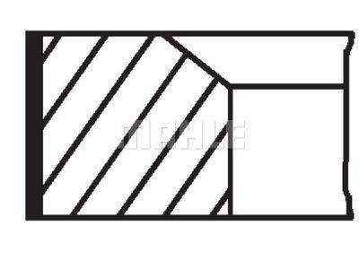 Komplet batnih obročkov 007RS001700N0 - Fiat, Iveco