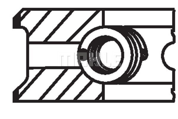 Komplet batnih obročkov 00865N0 - Fiat, Lancia