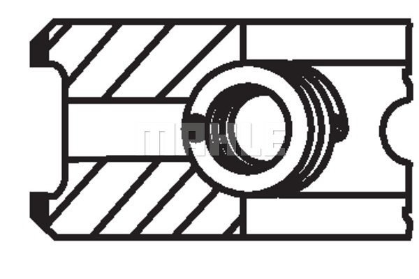 Komplet batnih obročkov 00950N0 - Fiat, Opel, Renault