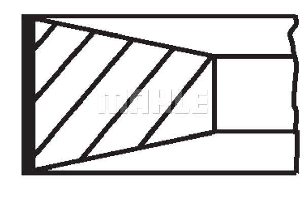 Komplet batnih obročkov 00986N0 - Fiat, Iveco, Jeep