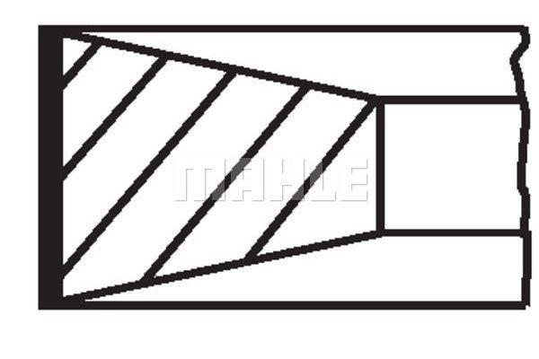 Komplet batnih obročkov 013RS001350N0 - Ford