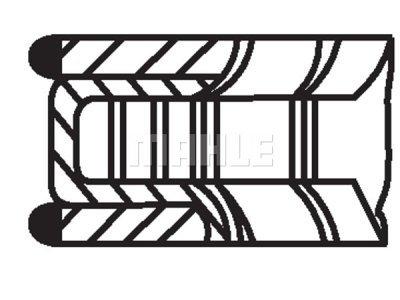 Komplet batnih obročkov 01501N0 - Ford