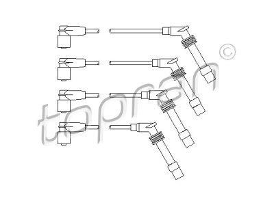 Komplet kablova za paljenje Opel Combo 94-01