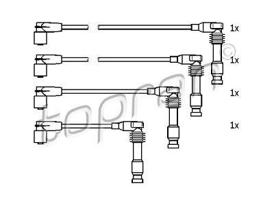 Komplet kablova za paljenje Opel Vectra 88-03