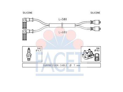 Komplet kablova za paljenje svećica Fiat 126 72-00