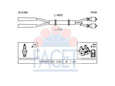 Komplet kablova za paljenje svečica Fiat 126 72-00