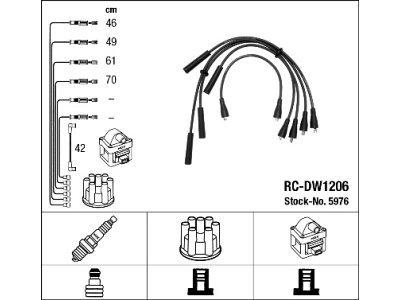 Komplet kablova za paljenje  svećica FSO Polonez 78-02