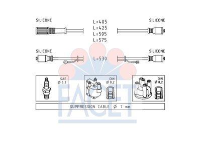 Komplet kablova za paljenje svječica 48.386 - Fiat Panda 80-04