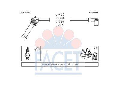 Komplet kablova za paljenje svječica  49.624 - Ford Mondeo 96-00